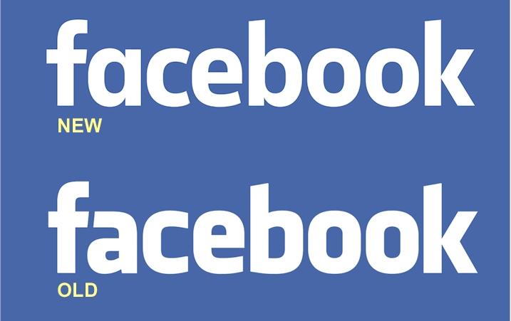 Logo do Facebook antigo e novo