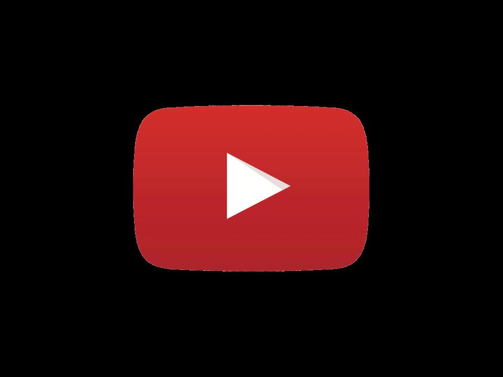 Símbolo do Youtube com fundo transparente